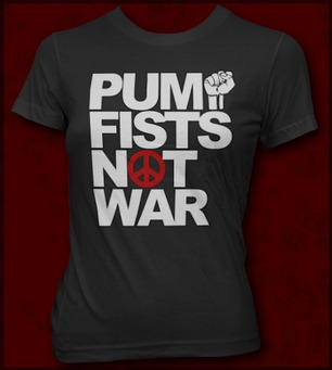 PUMP FISTS NOT WAR JERSEY SHORE